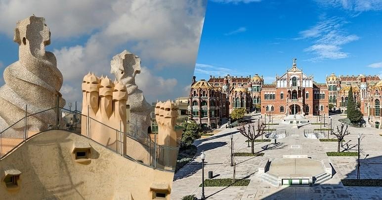 Visite combinée de La Pedrera et du site moderniste de Sant Pau