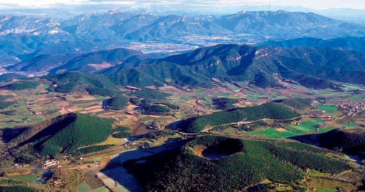 Volcanoes and other landscapes in La Garrotxa