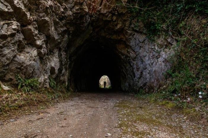 Ruta circular per les vies de les vagonetes a Ogassa