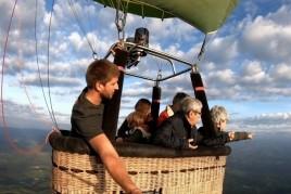 Vol privé en montgolfière en famille